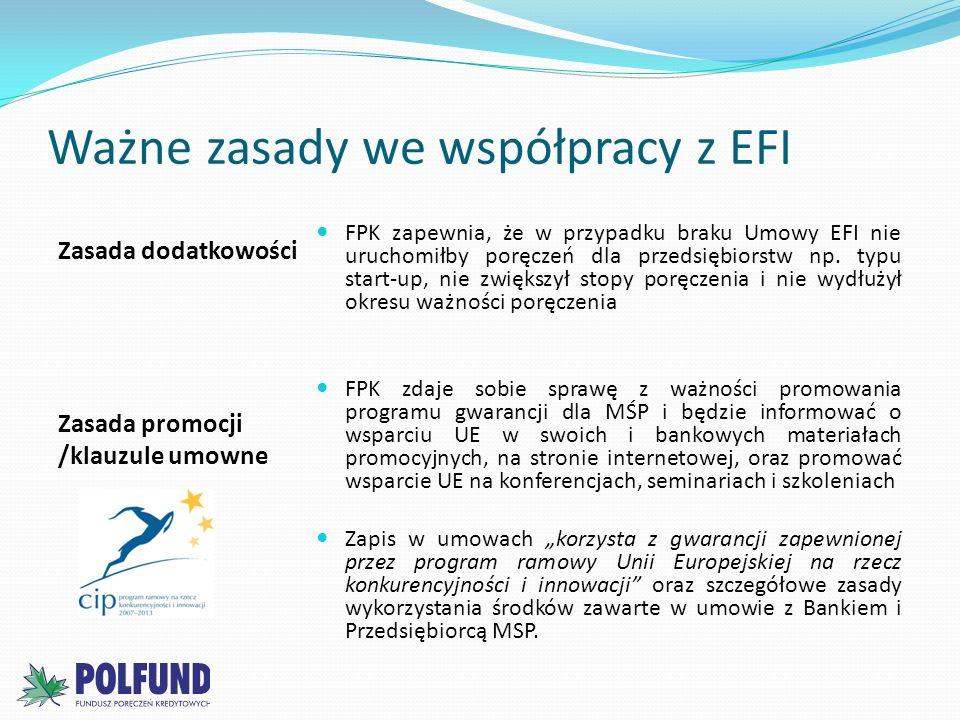 Ważne zasady we współpracy z EFI