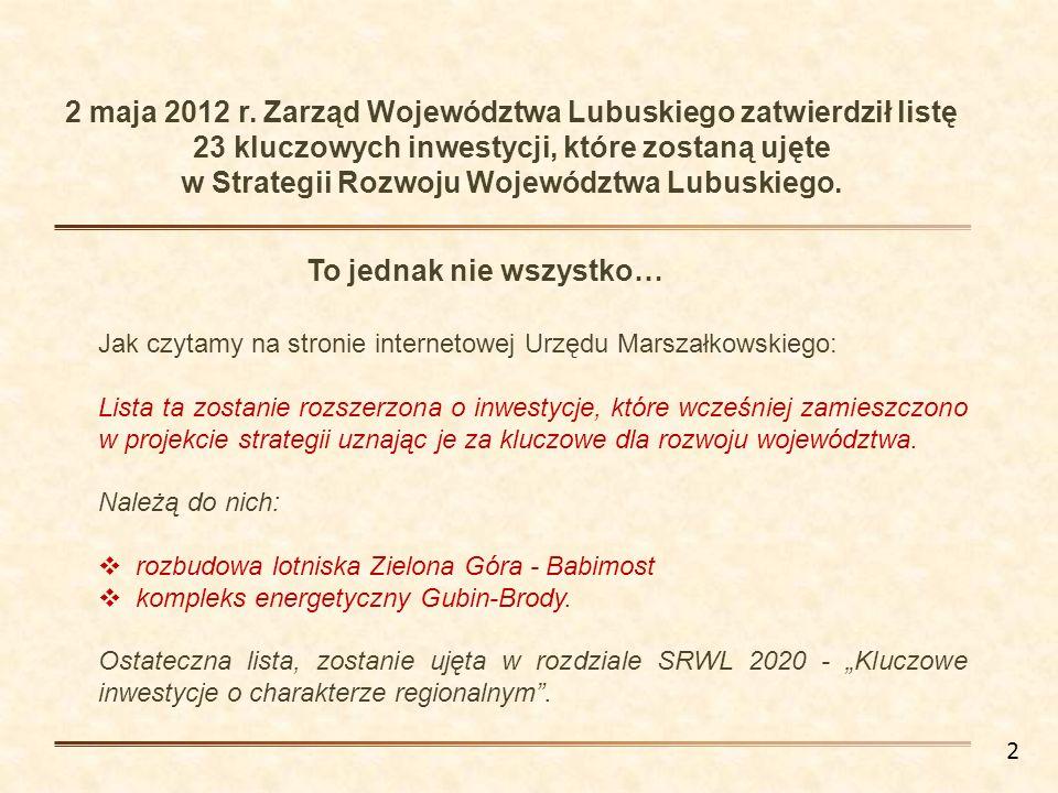 w Strategii Rozwoju Województwa Lubuskiego.
