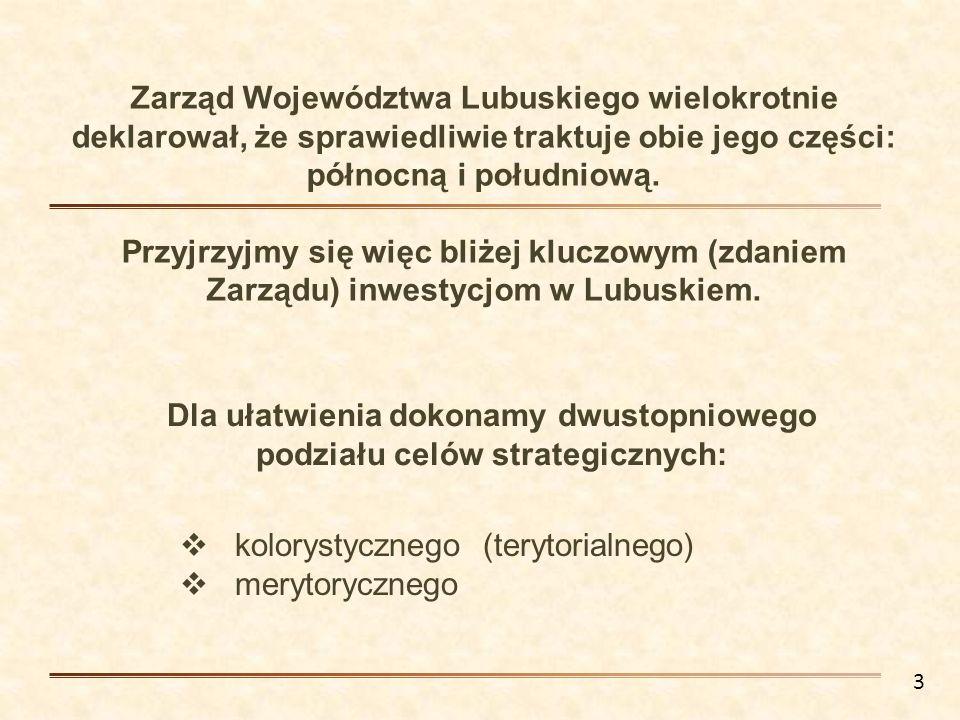 Dla ułatwienia dokonamy dwustopniowego podziału celów strategicznych: