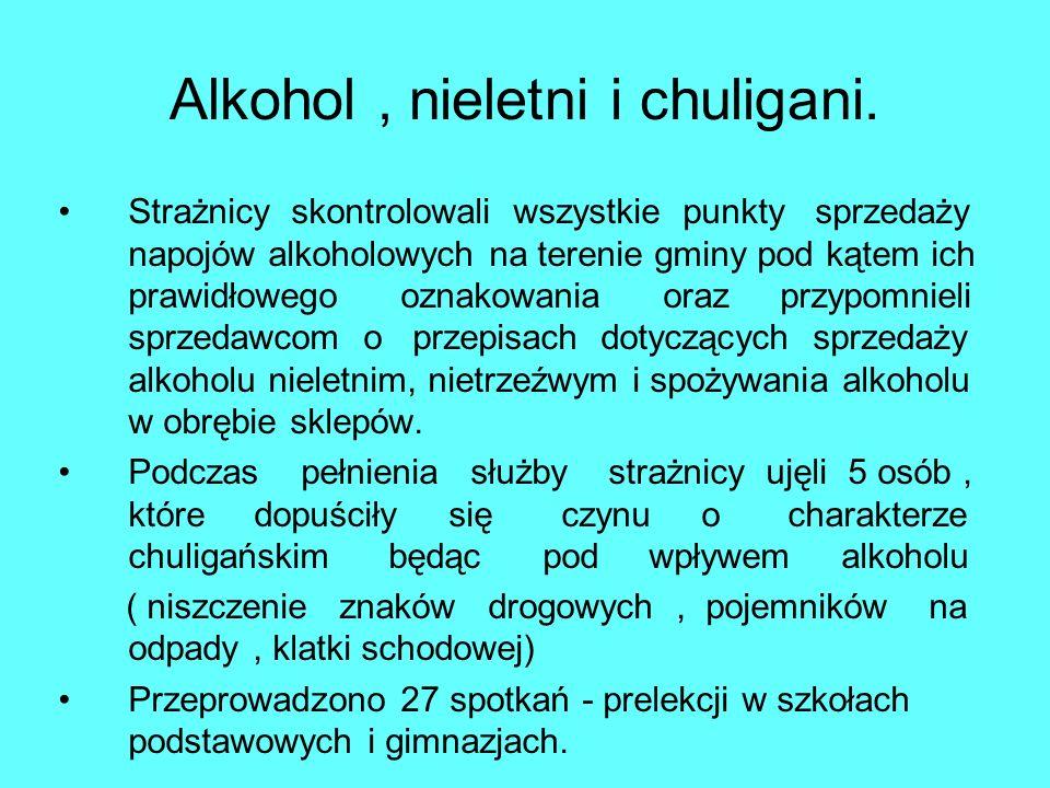 Alkohol , nieletni i chuligani.