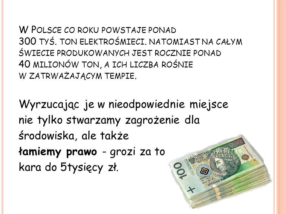 W Polsce co roku powstaje ponad 300 tyś. ton elektrośmieci