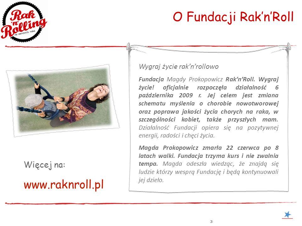 www.raknroll.pl O Fundacji Rak'n'Roll Więcej na: