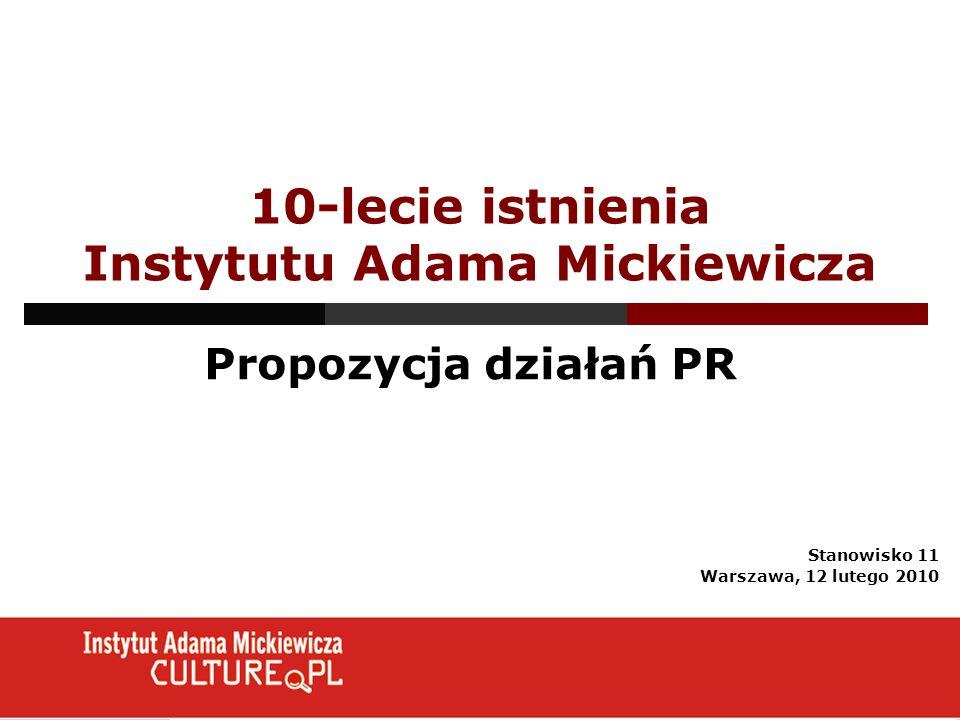 10-lecie istnienia Instytutu Adama Mickiewicza
