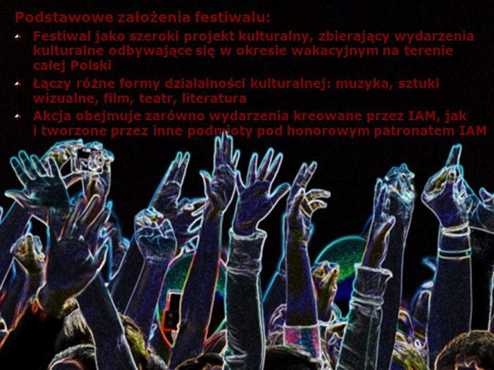 Podstawowe założenia festiwalu: