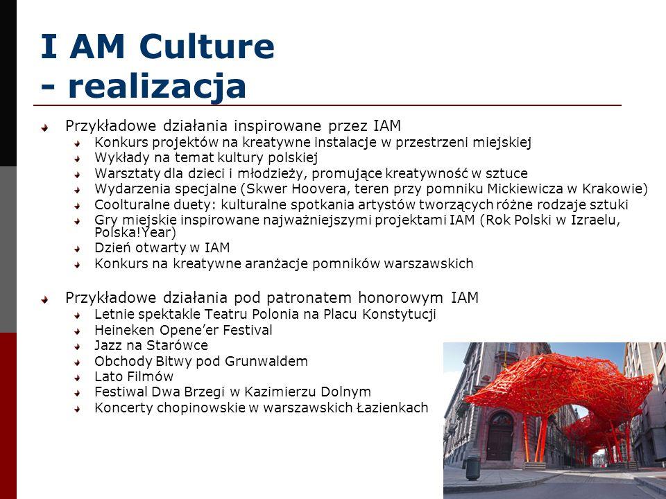 I AM Culture - realizacja