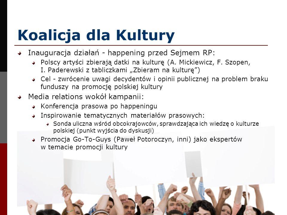 Koalicja dla Kultury Inauguracja działań - happening przed Sejmem RP: