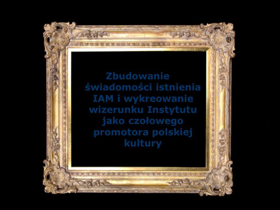 Zbudowanie świadomości istnienia IAM i wykreowanie wizerunku Instytutu jako czołowego promotora polskiej kultury