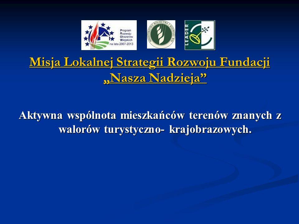 """Misja Lokalnej Strategii Rozwoju Fundacji """"Nasza Nadzieja"""