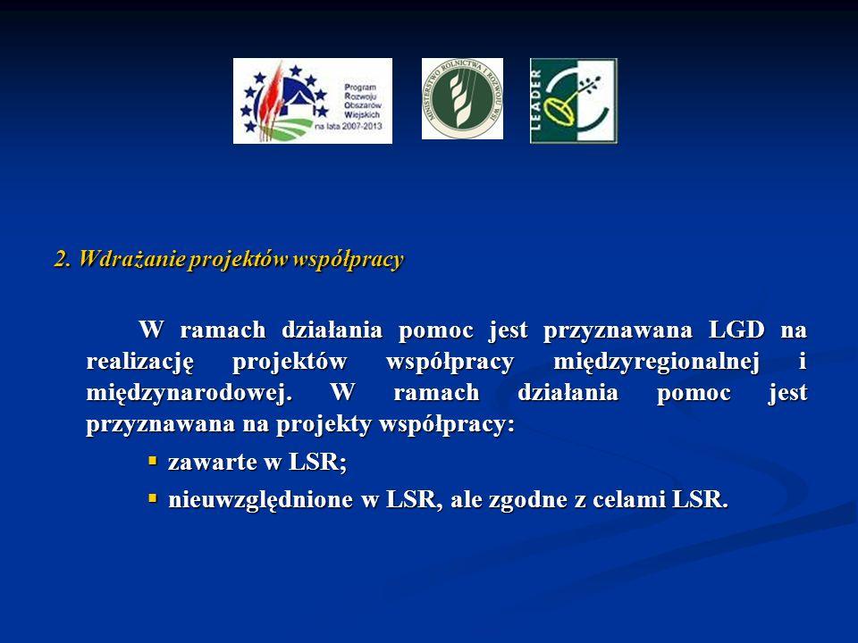 nieuwzględnione w LSR, ale zgodne z celami LSR.