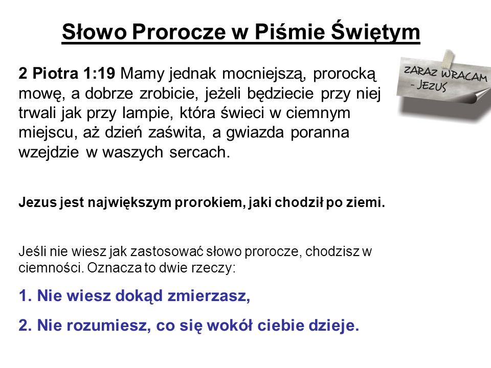 Słowo Prorocze w Piśmie Świętym