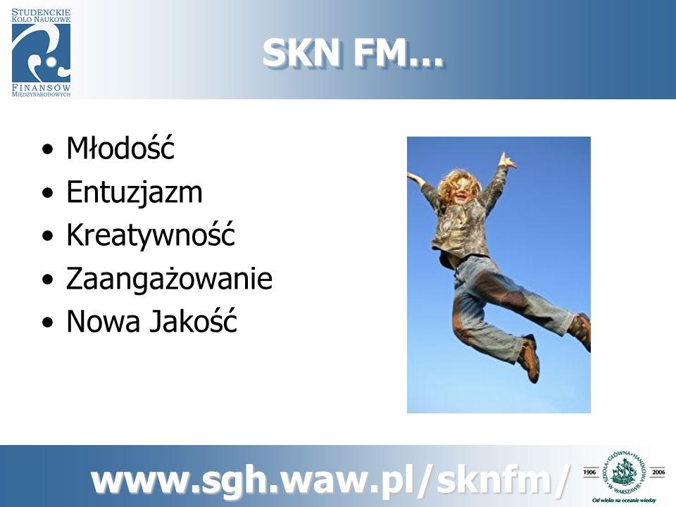 SKN FM… Młodość Entuzjazm Kreatywność Zaangażowanie Nowa Jakość