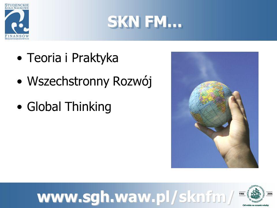 SKN FM… Teoria i Praktyka Wszechstronny Rozwój Global Thinking