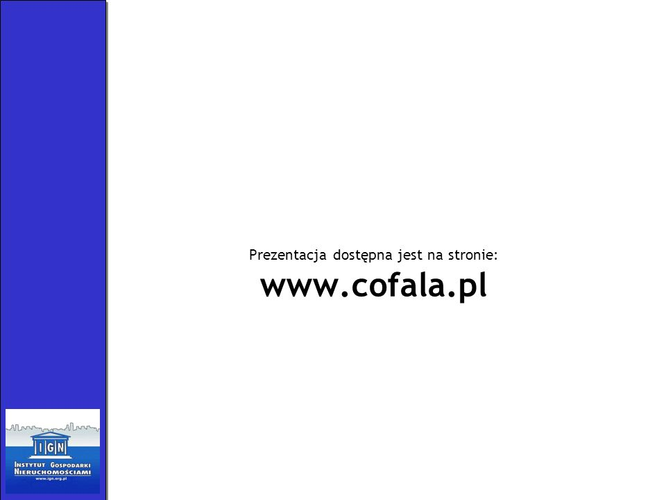 Prezentacja dostępna jest na stronie: www.cofala.pl