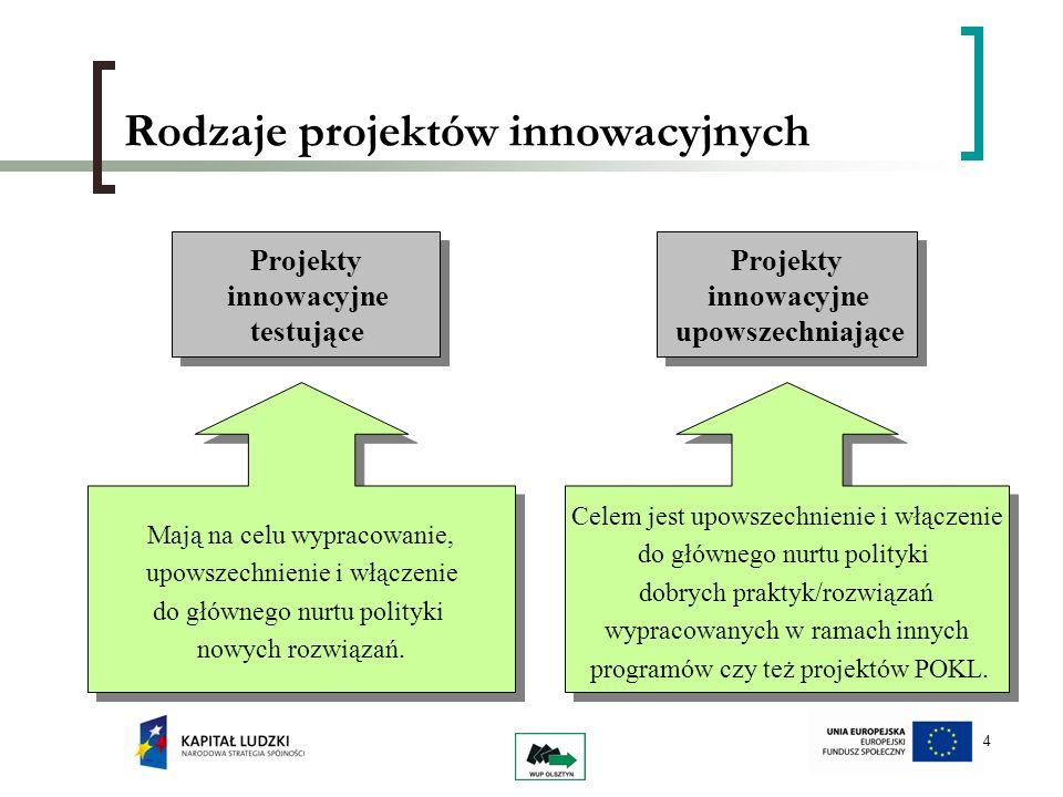 Rodzaje projektów innowacyjnych