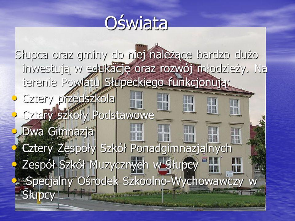 Oświata Słupca oraz gminy do niej należące bardzo dużo inwestują w edukację oraz rozwój młodzieży. Na terenie Powiatu Słupeckiego funkcjonują: