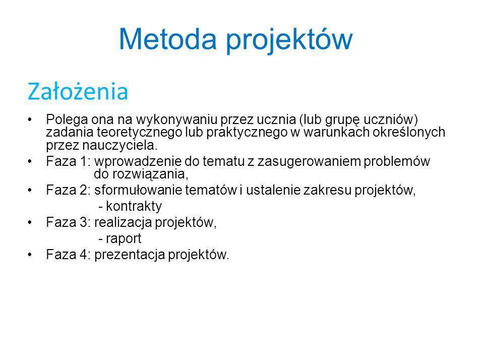 Metoda projektów Założenia