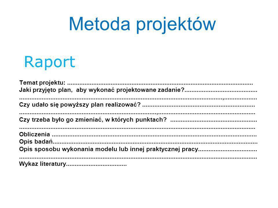 Metoda projektów Raport