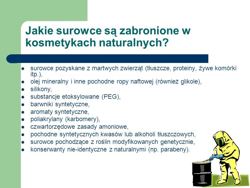 Jakie surowce są zabronione w kosmetykach naturalnych