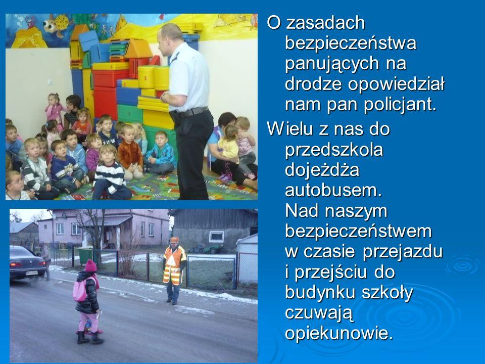 O zasadach bezpieczeństwa panujących na drodze opowiedział nam pan policjant.