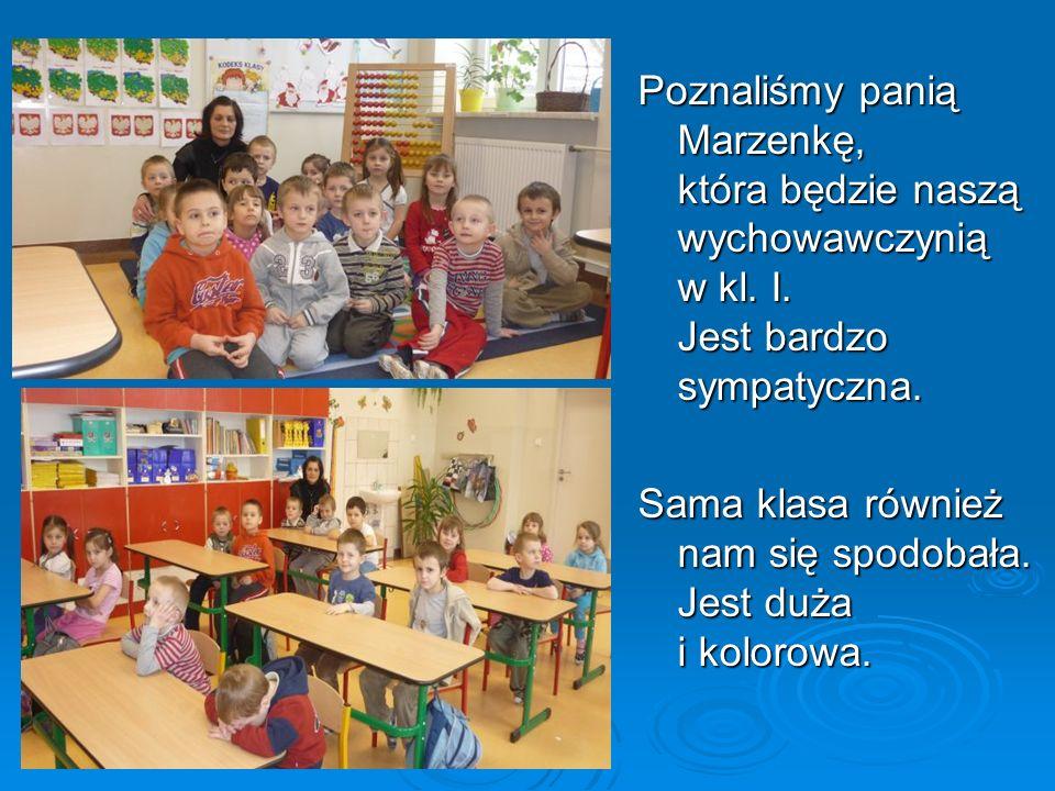 Poznaliśmy panią Marzenkę, która będzie naszą wychowawczynią w kl. I