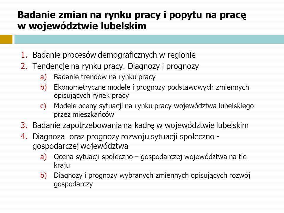 Badanie zmian na rynku pracy i popytu na pracę w województwie lubelskim