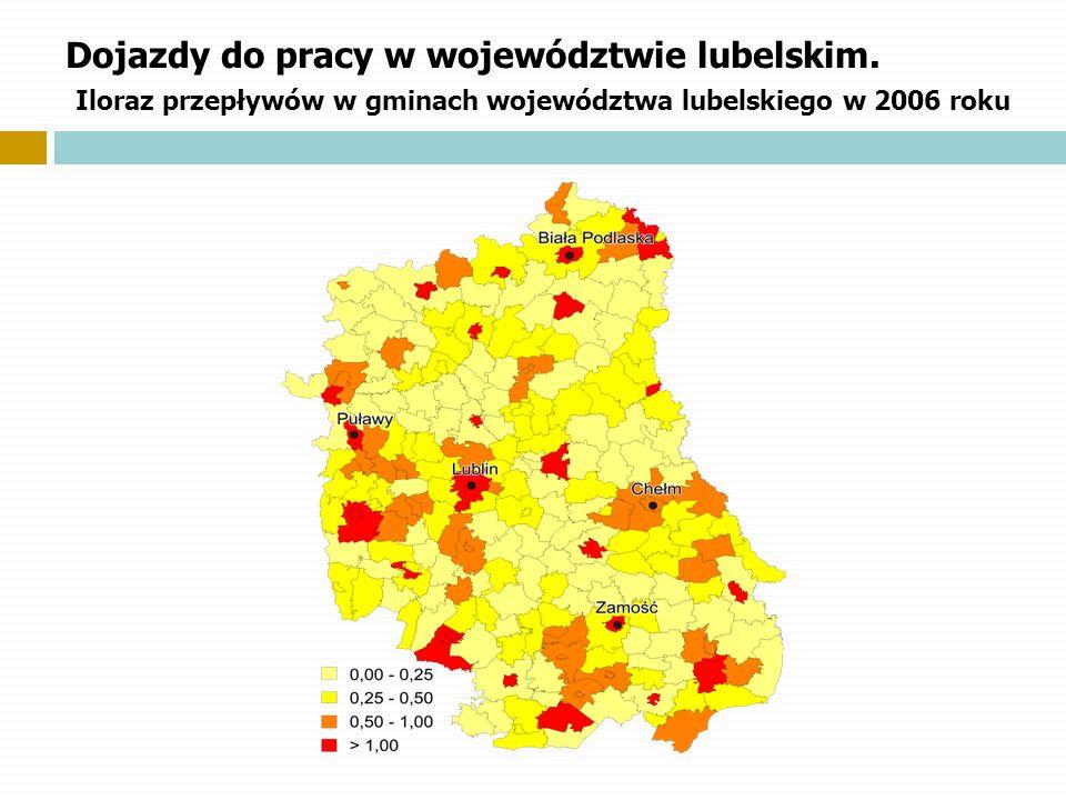 Dojazdy do pracy w województwie lubelskim