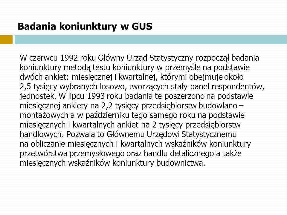 Badania koniunktury w GUS