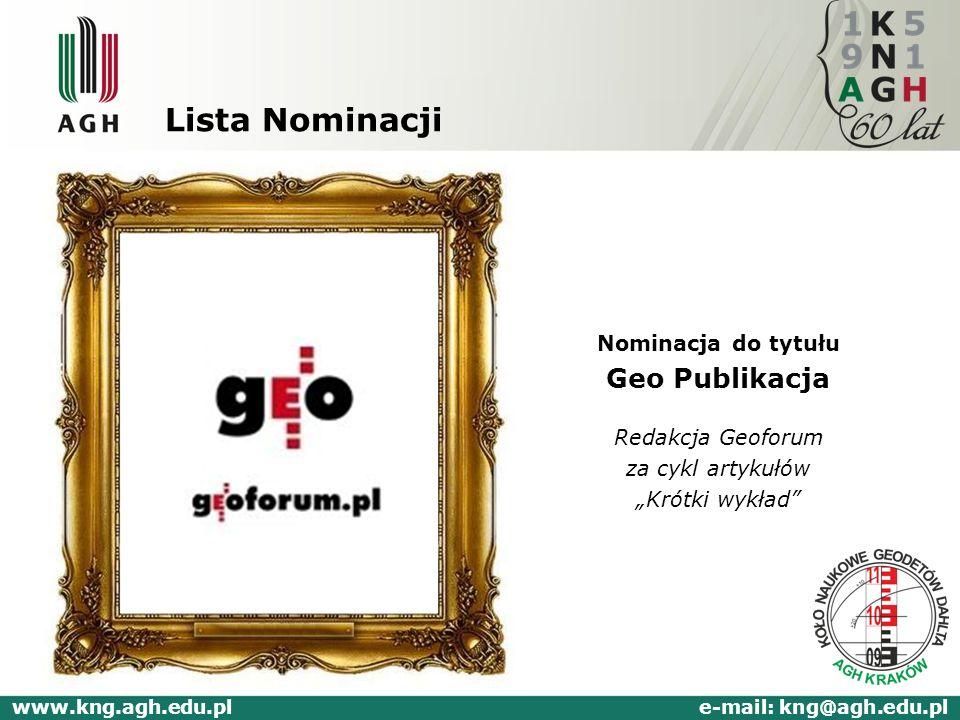 www.kng.agh.edu.pl e-mail: kng@agh.edu.pl