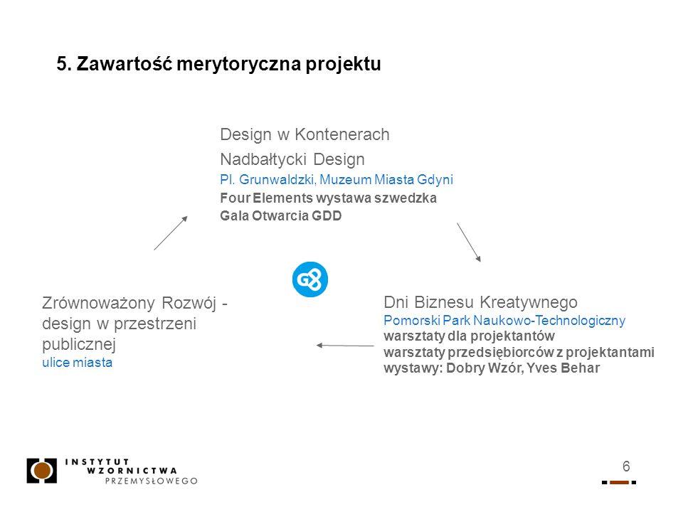 5. Zawartość merytoryczna projektu