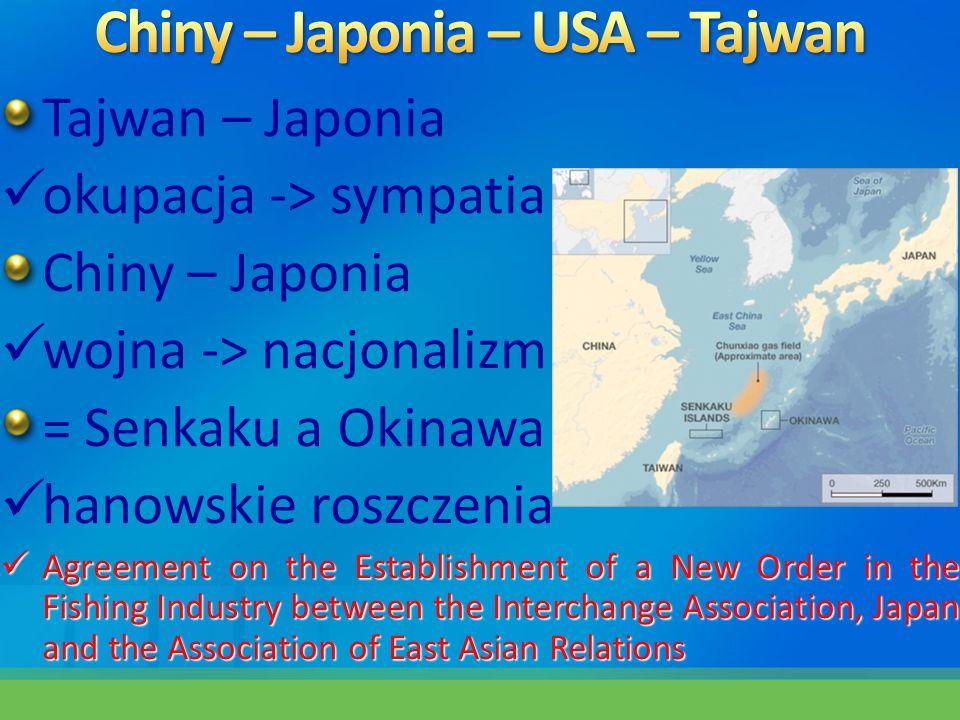 Chiny – Japonia – USA – Tajwan