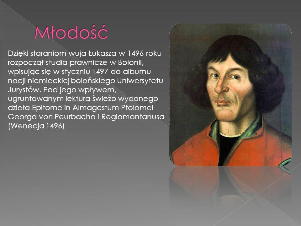 MłodośćDzięki staraniom wuja Łukasza w 1496 roku rozpoczął studia prawnicze w Bolonii, wpisując się w styczniu 1497 do albumu.