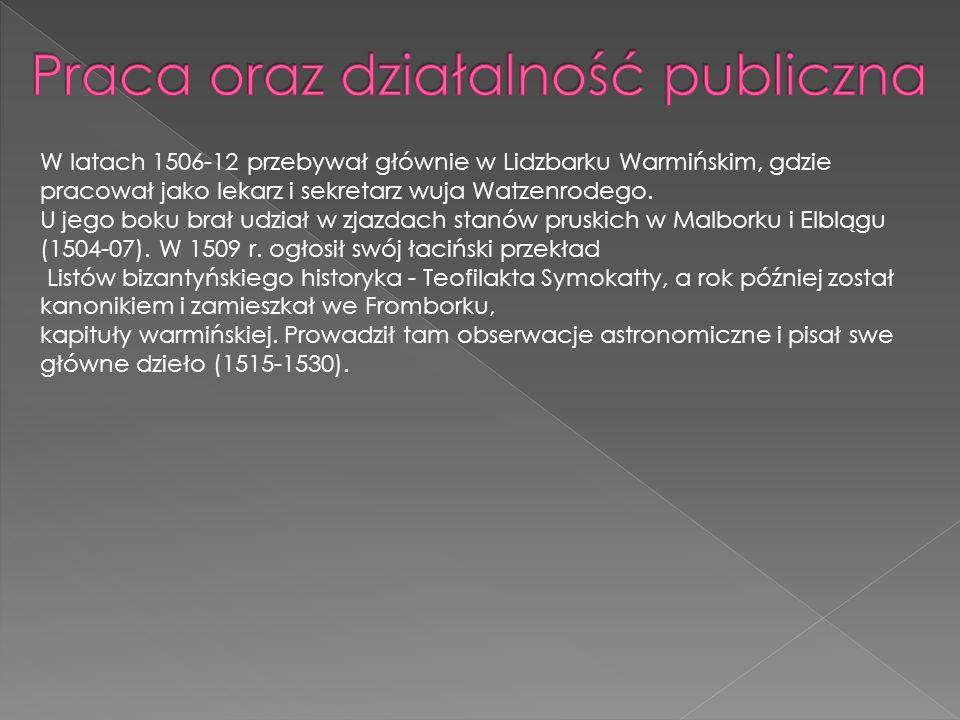 Praca oraz działalność publiczna