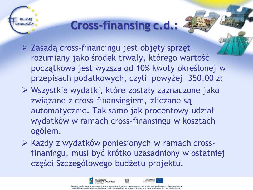 Cross-finansing c.d.: