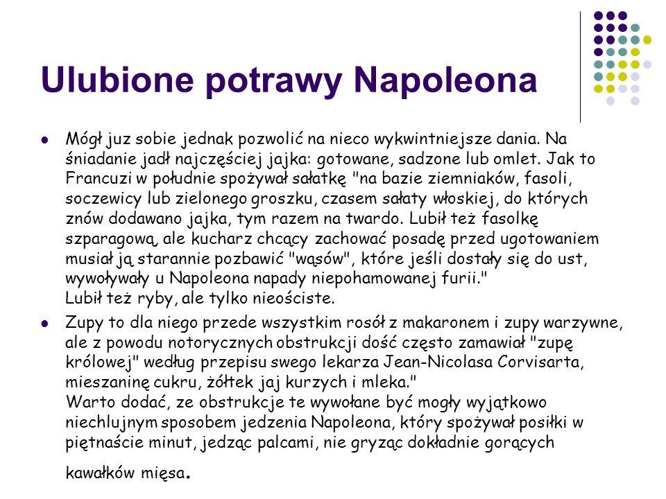 Ulubione potrawy Napoleona