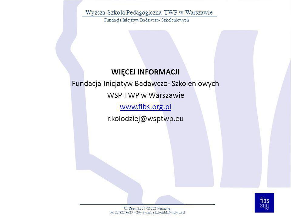 Fundacja Inicjatyw Badawczo- Szkoleniowych WSP TWP w Warszawie