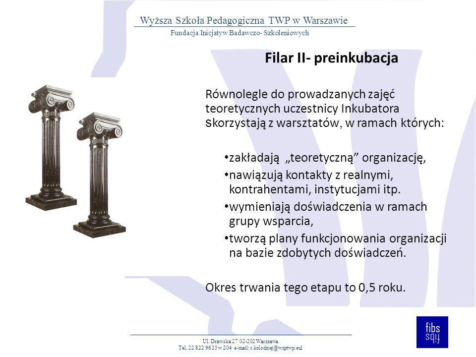 Filar II- preinkubacja