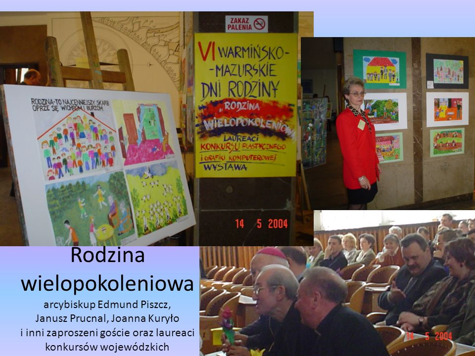Rodzina wielopokoleniowa arcybiskup Edmund Piszcz, Janusz Prucnal, Joanna Kuryło i inni zaproszeni goście oraz laureaci konkursów wojewódzkich