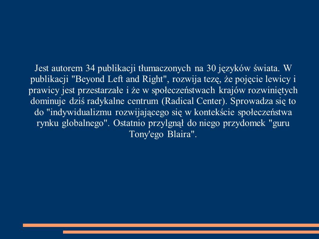 Jest autorem 34 publikacji tłumaczonych na 30 języków świata