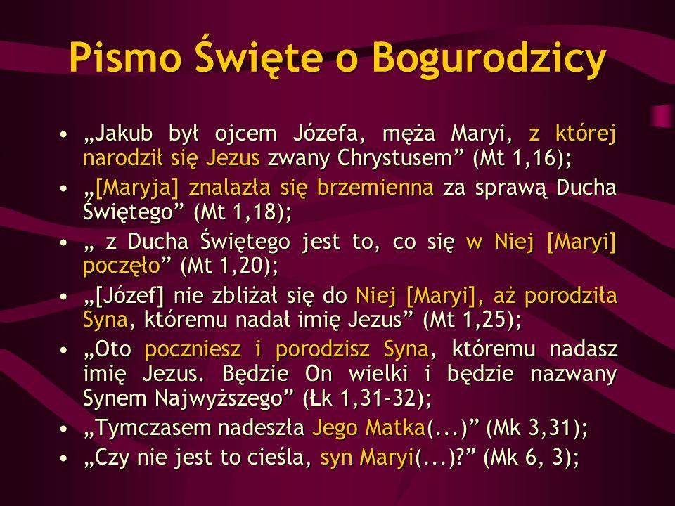 Pismo Święte o Bogurodzicy