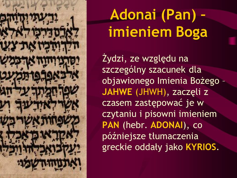 Adonai (Pan) – imieniem Boga