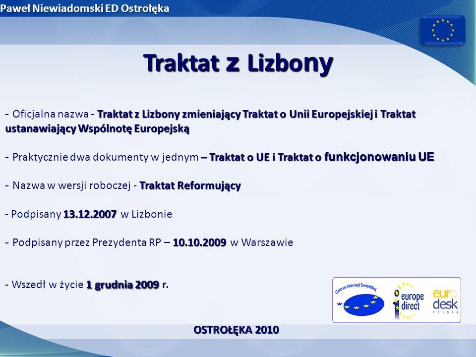 Traktat z Lizbony Paweł Niewiadomski ED Ostrołęka