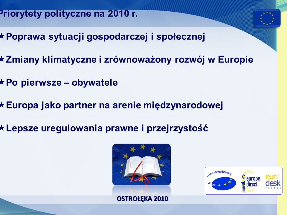 Priorytety polityczne na 2010 r.