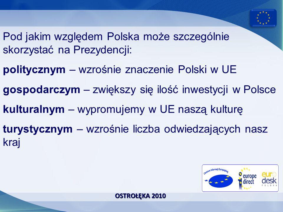 Pod jakim względem Polska może szczególnie skorzystać na Prezydencji: