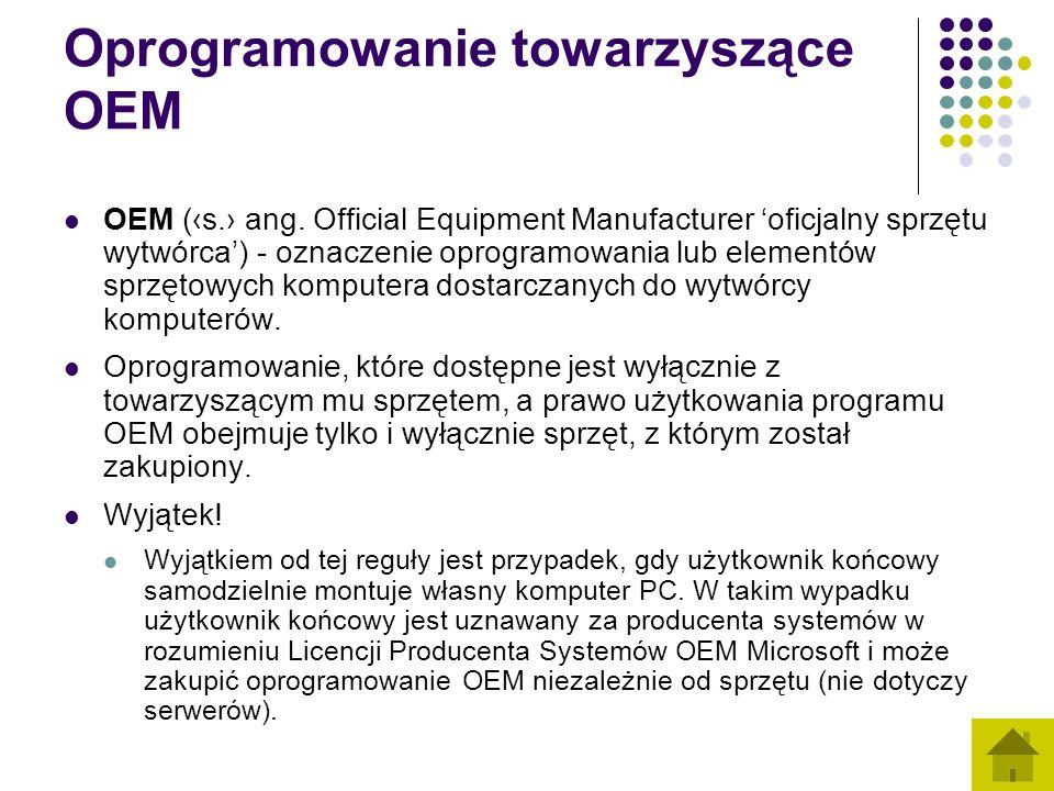 Oprogramowanie towarzyszące OEM