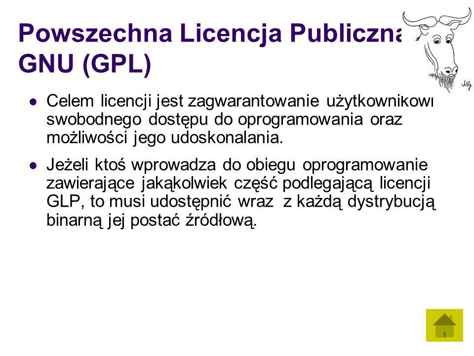 Powszechna Licencja Publiczna GNU (GPL)