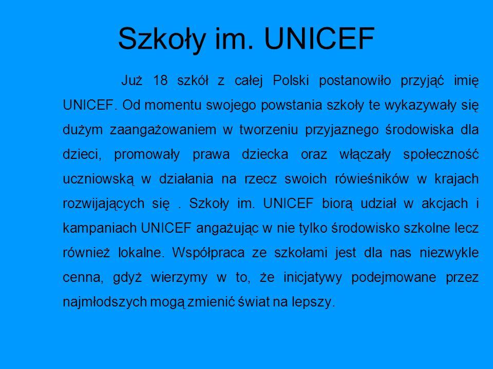 Szkoły im. UNICEF