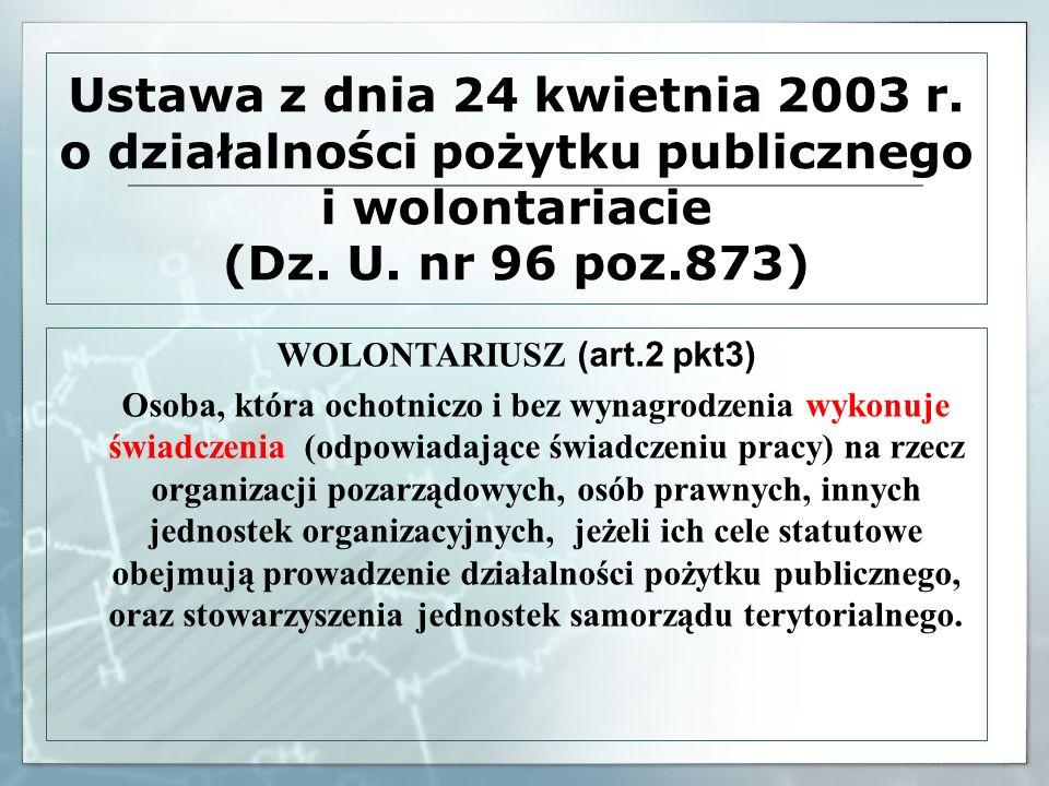 WOLONTARIUSZ (art.2 pkt3)