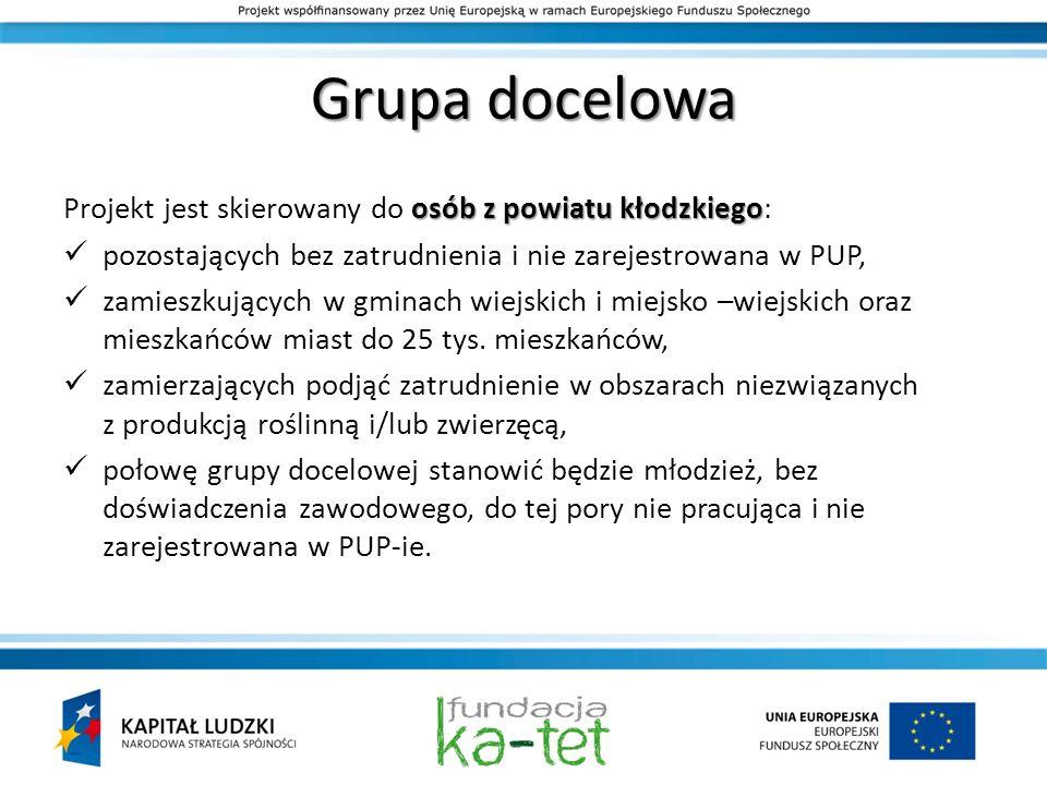 Grupa docelowa Projekt jest skierowany do osób z powiatu kłodzkiego: