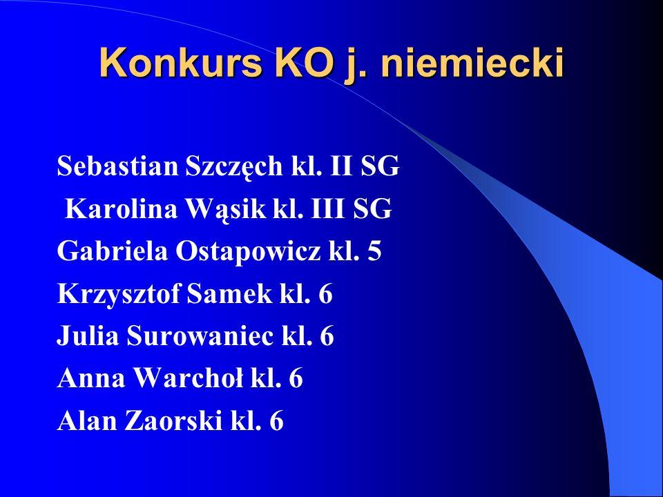 Konkurs KO j. niemiecki Sebastian Szczęch kl. II SG