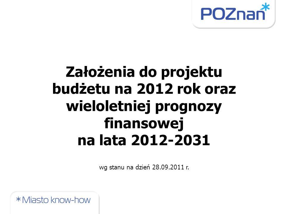 Założenia do projektu budżetu na 2012 rok oraz wieloletniej prognozy finansowej na lata 2012-2031